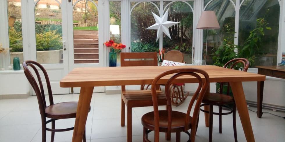Tables De Salle A Manger Sur Mesure En Bois Massif Durable