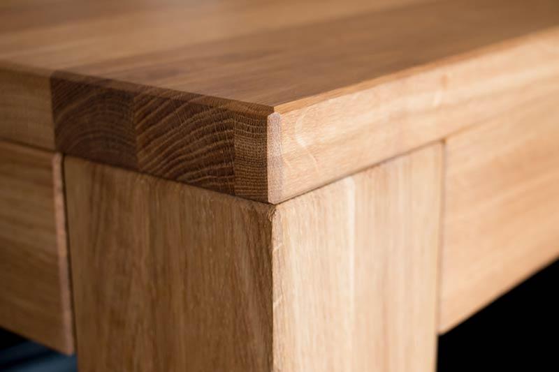 Table de bureau sur mesure en bois massif