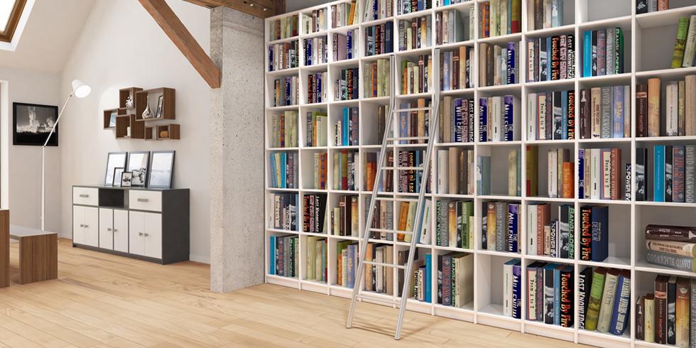 Bibliothèque sur mesure en bois massif - échantillon gratuit