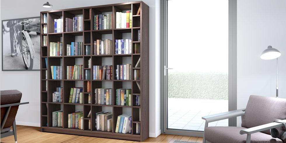 b cherregale nach ma b cherregal konfigurieren und gestalten. Black Bedroom Furniture Sets. Home Design Ideas
