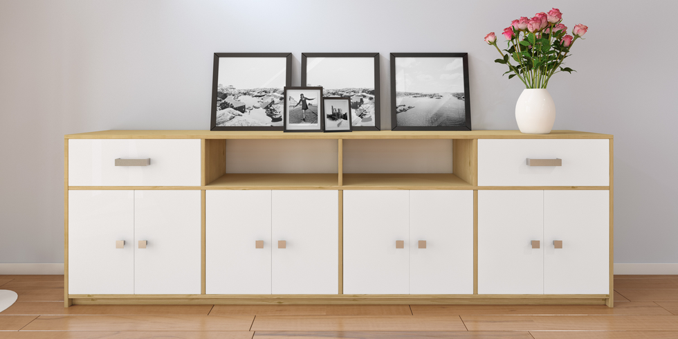 sideboards mit einer tiefe von 15cm bis 60cm. Black Bedroom Furniture Sets. Home Design Ideas